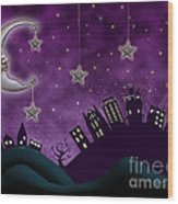 Nighty Night Wood Print