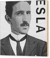 Nikola Tesla 2 Wood Print