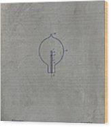 Nikola Tesla's Incandescent Electric Light Patent 1894 - Grunge Wood Print