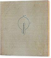 Nikola Tesla's Incandescent Electric Light Patent 1894 Aged Wood Print