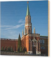 Nikolskaya - St. Nicholas - Tower Of The Kremlin - Square Wood Print