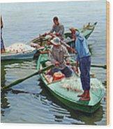 Nile River Fishermen  Wood Print