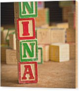 Nina - Alphabet Blocks Wood Print