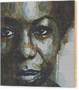 Nina Simone Ain't Got No Wood Print