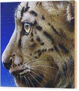 Nina The Snow Leopard Wood Print