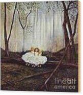 Ninas En El Bosque Wood Print