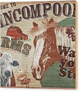 Nincompoop Farms Wood Print