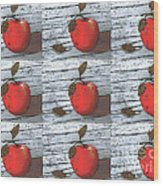 Nine Apples Wood Print
