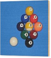 Nine Ball Rack. Wood Print