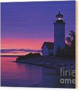 Nine Mile Point Light - Fm000022a Wood Print