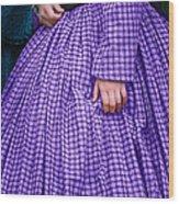 Ninetenth Century Woman In Purple Wood Print