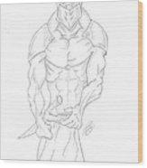 Ninja Drawing By Ray Wood Print