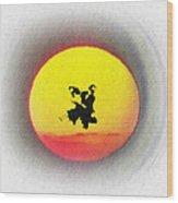 Ninja Duel In The Sun Wood Print