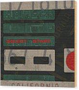 Nintendo Controller Vintage Video Game License Plate Art Wood Print