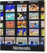 Nintendo History Wood Print
