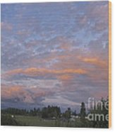 Nisqually Valley Sunset Wood Print