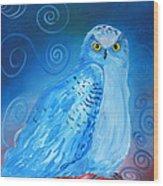 Nite Owl Wood Print by Amy Reisland-Speer