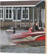 Nitro Boat Wood Print