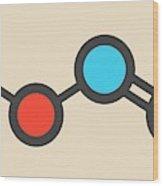 Nitrous Acid Mineral Acid Molecule Wood Print