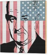 Lyndon Johnson Wood Print