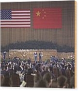 Nixon In China. Overview Of The State Wood Print