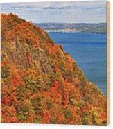 N.j. Palisades Awesome Autumn  Wood Print