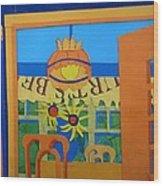 Nj Sunflowers Wood Print