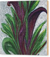 No. 028 Purple Callas Wood Print