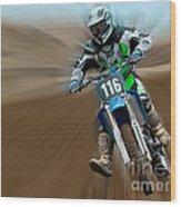 Motorcross No. 116 Wood Print