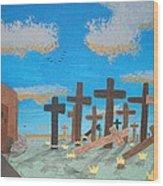 No Cross No Crown 1 Wood Print