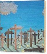 No Cross No Crown 2 Wood Print
