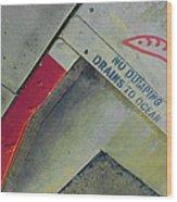No Dumping - Drains To Ocean No 1 Wood Print