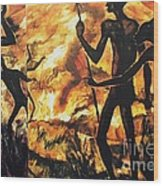No Fire For The Antelopes Wood Print