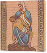 No Greater Love - Jesus And Mary  Wood Print