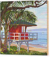No Guard On Duty - Kamaole Beach Wood Print