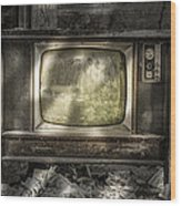 No One's Watching - Vintage Television In An Old Barn Wood Print
