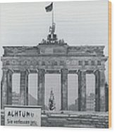 No Passing-papers For West-berlins Inhabitants Wood Print