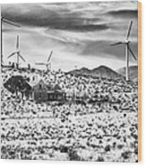 No Place Like Home Bw Palm Springs Desert Hot Springs Wood Print