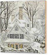 No Place Like Home For The Holidays Wood Print by Carol Wisniewski