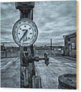 No Pressure Or The Valve At The Top Of The City  Wood Print by Bob Orsillo