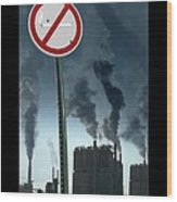 No Smoking Wood Print