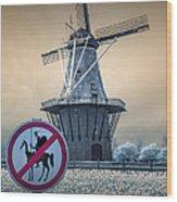 No Tilting At Windmills Wood Print