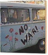 No War Wood Print