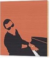 No003 My Ray Charles Minimal Music Poster Wood Print