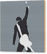 No017 My Bruce Springsteen Minimal Music Poster Wood Print