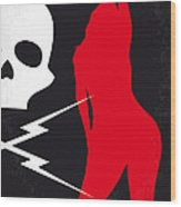 No018 My Death Proof Minimal Movie Poster Wood Print