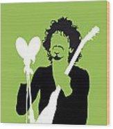 No046 My Santana Minimal Music Poster Wood Print