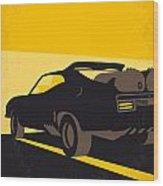 No051 My Mad Max 2 Road Warrior Minimal Movie Poster Wood Print