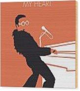 No053 MY ELTON JOHN Minimal Music poster Wood Print