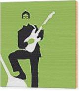 No056 MY BUDDY HOLLY Minimal Music poster Wood Print